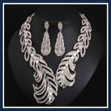 New Item Alloy Leaves Fashion Earring Necklace Jewelry Set