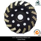 4′′/100mm Diamond Tool Diamond Turbo Cup Wheel