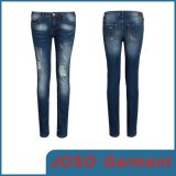 Women Denim Skinny Patched up Jeans (JC1055)
