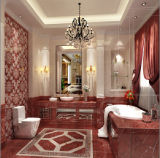 Coral Red Marble Glazed Floor Tile 600X600mm