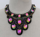 Lady Colorful Crystal Costume Jewelry Choker Fashion Necklace (JE0166)
