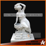 White Carrara Stone Carving Beautiful Women Statues Factory Directly