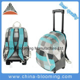 Polyester Trolley Rolling School Student Backpack Bag