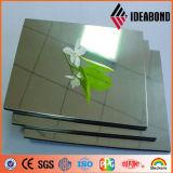 Ideabond Building Material Silver Mirror Finished Aluminium Composite Panel (AE-201)