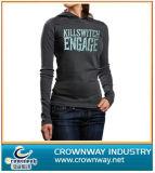 Ladies Hoody Sweater with Crack Printing