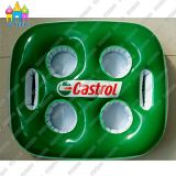 Water Inflatable PVC Beverage Drink Cup Rack Holder Floats