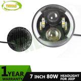 80W 7inch CREE Half Angel Eye LED Jk Headlight Light