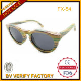 Handmad Color Bamboo Cat Eyes Sunglasses with Polarized Lens