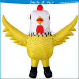 Inflatable Customized Chook Costume for Outdoors Advertising