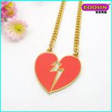 Fashion Enamel Broken Heart Pendant Jewelry Gold Necklace