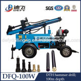 Trailer Mounted Portable DTH Water Drilling Rig Machine