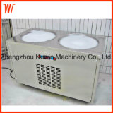Double Pan Commercial Fried Ice Cream Machine Price