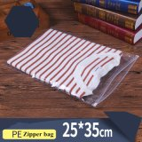 T Shirt Packing Zip Lock Style Clear Zipper Plastic Packaging Bag