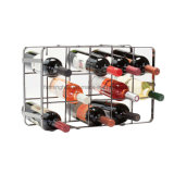Classy Simple Design 15-Bottles Tabletop Display Storage Metal Wine Rack