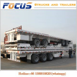 40FT Tri-Axle Flatbed Container Truck Semi Trailer