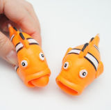 Anti Stress Squeeze Rubber Clown Fish Toy with Pop-out Tongue