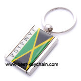 Jamaica Flag Souvenir Metal Photo Frame Gift Key Ring (BK52503)