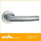 Stainless Steel Door Handle on Rose (S1017)