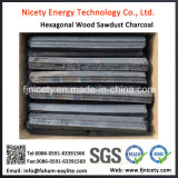 Hexagonal Hardwood BBQ Sawdust Charcoal