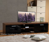 White/Teak High Gloss TV Stand with Drawer