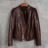 New Women′s Genuine Sheep Leather Jacket