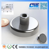Strong N40 D38.1xh19.98mm High Quality NdFeB Potn08 Magnet