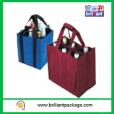 Recycle Non Woven Wine Bottle Shopping Bag Log and Size Be Customized