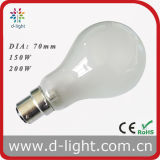 PS70 A70 B22 Frosted Incandescent Luminaire Bulb 150W 200W 220V