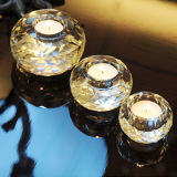 Romantic Eurpoean Crystal Glass Candle Holder Craft