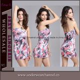 Fashion Design Strapless Women Lady Mini Dress (TLL1077)