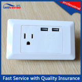 Universal Multi Electrical Wall Socket with Double USB Port