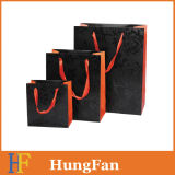 Personal Care Product Paper Gift Bag with UV Printing and Hot Stamping
