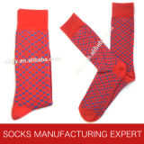 Men′s Hot Sales Mercerized Cotton Sock