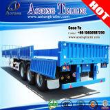 Tri Axles 600mm Cargo Open Side Wall Semi Trailer Truck