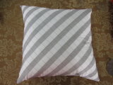 Color Block Grey/ Ivory Square Pillow