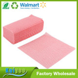 Non Woven Fabric Kitchen Disposable Cleaning Cloth 80PCS Pink White