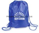 OEM Manufacturer Reusable 210d Nylon Polyester Drawstring Backpack Gym Bag