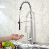 Stainless Steel Spring Pull-Down Kitchen Faucet with CSA&Watermark Certificates