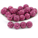 Wholesale 16mm Fuchsia Colored Quality Shamballa Beads for Jewelry Making