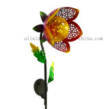 Solar Iron Mesh Art Flowers Light