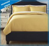 Royal Yellow Solid Polyester Ultrasonic Bedspread Set