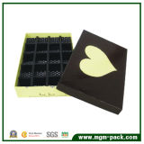 Cute Rectangle Chocolate Paper Gift Box with Heart Pattern