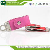 Leather Cheap Promotion USB Flash Drive 32GB