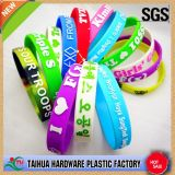 Hot Selling Bulk Silicone Wristband with Embossed Printed (TH-612)
