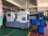 Precision CNC Lathe with Slant Bed Plus Gantry Loader in Tray Plus Hoist