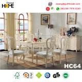 European Antique Design Square Dining Table with Marble (HC62)