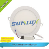 Sunlux Aluminum Recessed Mounted 9W 12W 18W 85V-265V Round and Square LED Panel Light
