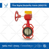 FM UL Approved Dn50-Dn200 Fire Fighting Grooved Signal Butterfly Valve