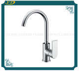 Simply Designed Deck Mounted Goose Neck Single Handle Kitchen Faucet