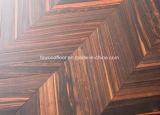 Black Ebony Engineered Chevron Parquet Flooring